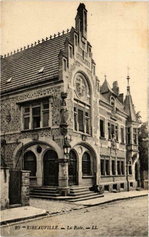Carte postale ancienne Ribeauville - La Poste à Ribeauvillé