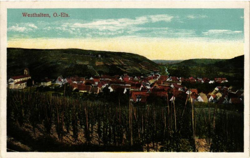 Carte postale ancienne Westhalten à Westhalten