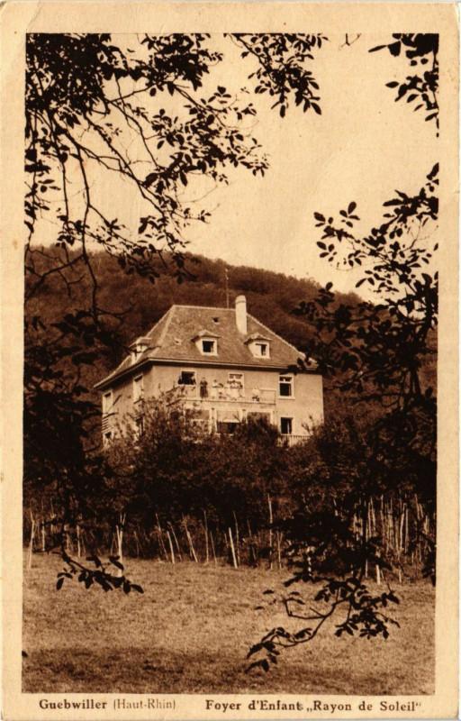 Carte postale ancienne Guebwiller - Foyer d'Enfant - Rayon de Soleil à Guebwiller