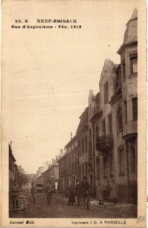 Carte postale ancienne Neuf-Brisach - Rue d'Anouelme à Neuf-Brisach