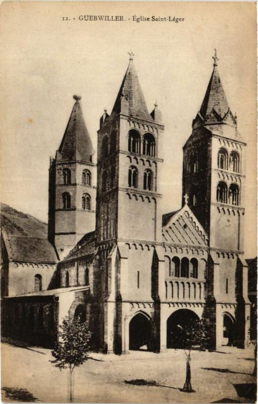 Carte postale ancienne Guebwiller - Eglise Saint-Leger à Guebwiller