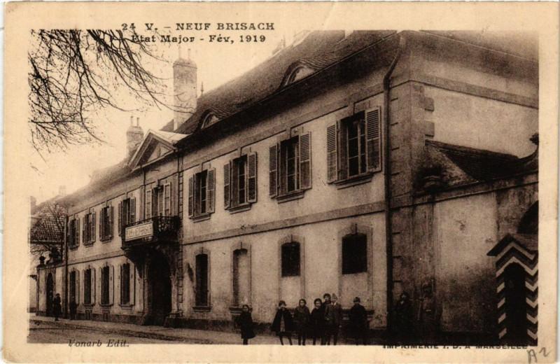 Carte postale ancienne Neuf-Brisach - Etat-Major à Neuf-Brisach