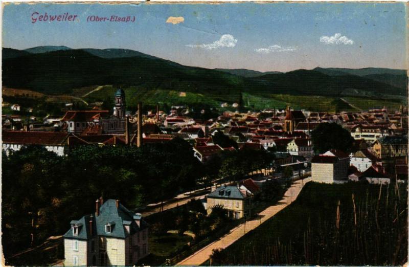 Carte postale ancienne Guebwiller - Gebweiler i. Els. - Vue générale à Guebwiller