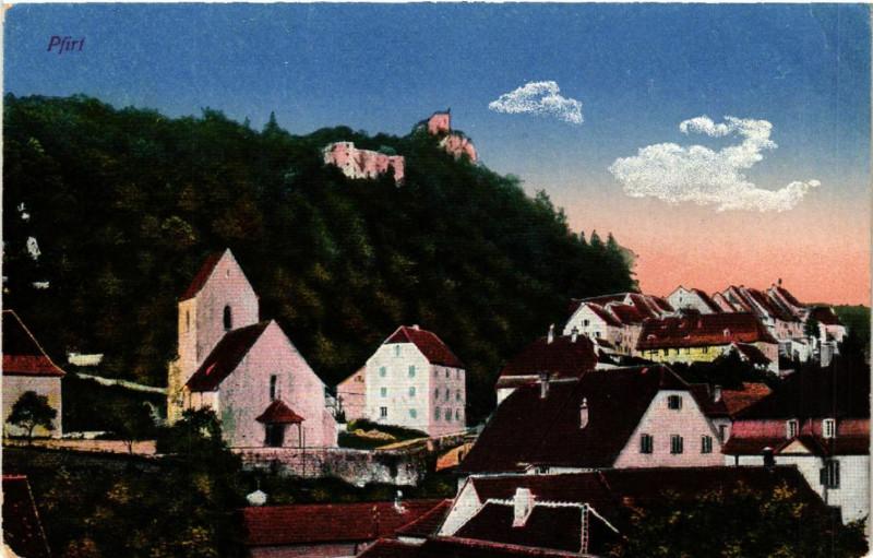 Carte postale ancienne Ferrette - Pfirt - Vue - Scene à Ferrette