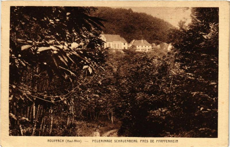 Carte postale ancienne Rouffach - Pelerinage Schauenberg pres de Pfaffenheim à Rouffach