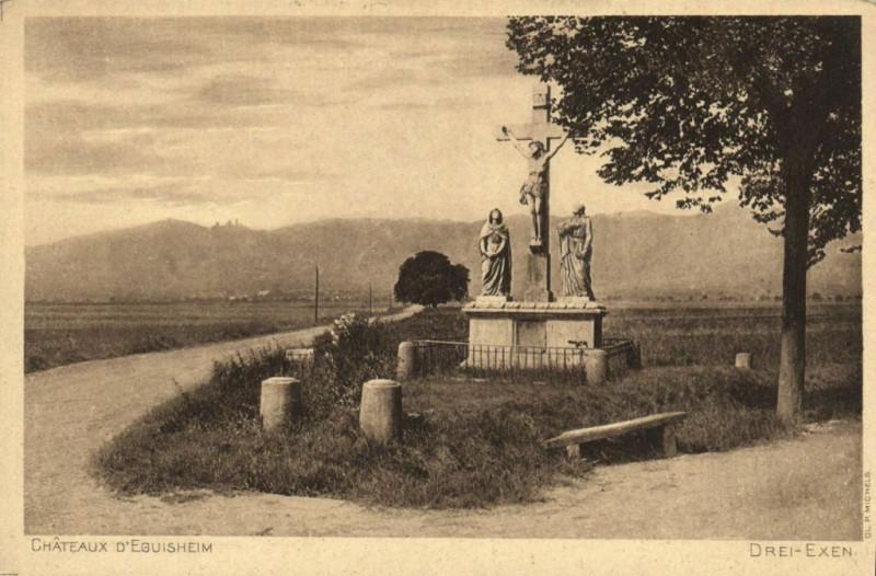 Carte postale ancienne Chateau d'Eguisheim à Eguisheim