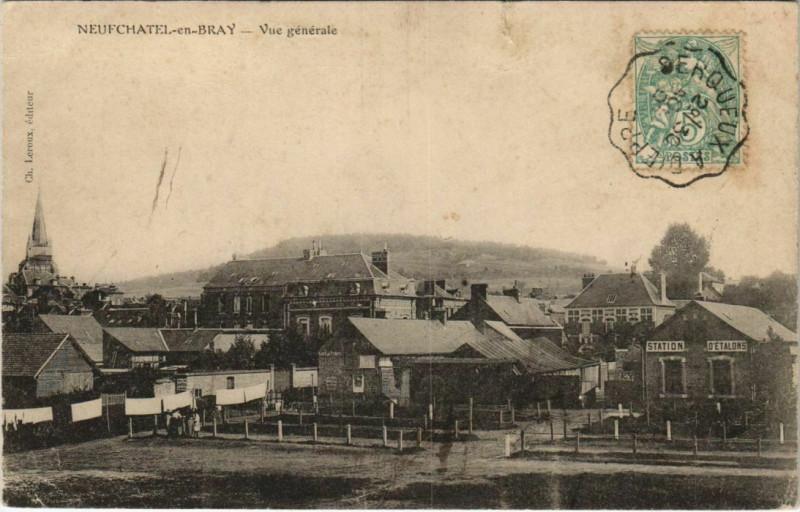 Carte postale ancienne Neufchatel-en-Bray Vue Generale à Neufchâtel-en-Bray