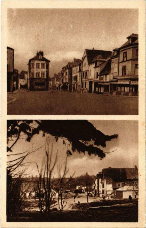Carte postale ancienne Neufchatel-en-Bray - La Place des Boucheries à Neufchâtel-en-Bray