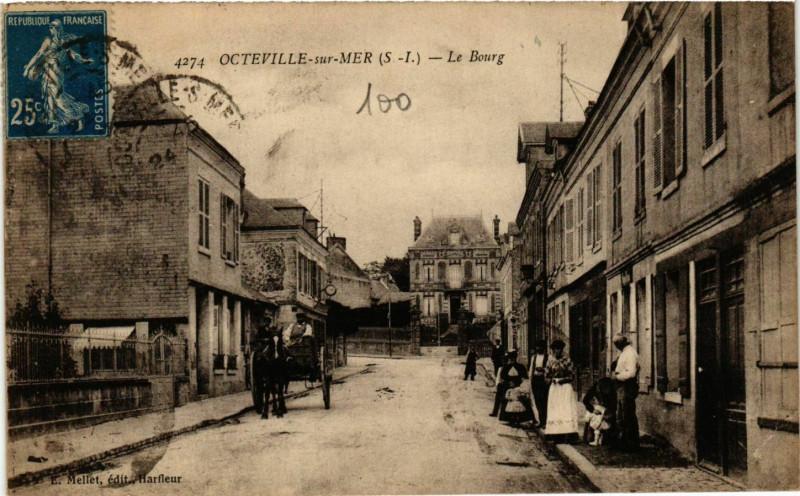 Carte postale ancienne Octeville-sur-Mer Le Bourg à Octeville-sur-Mer