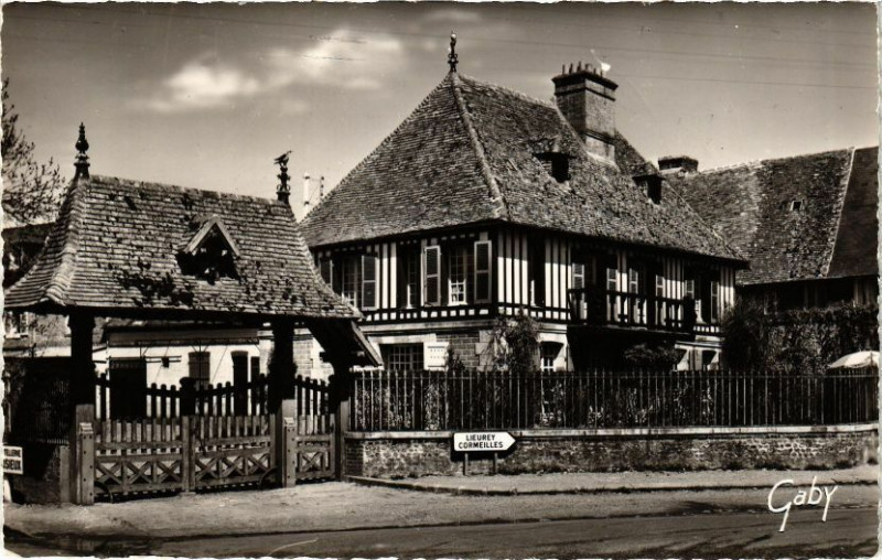 Carte postale ancienne Thiberville - Le Castel à Thiberville