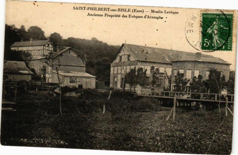 Carte postale ancienne Saint-Philbert-sur-Risle - Moulin Lévéque à Saint-Philbert-sur-Risle