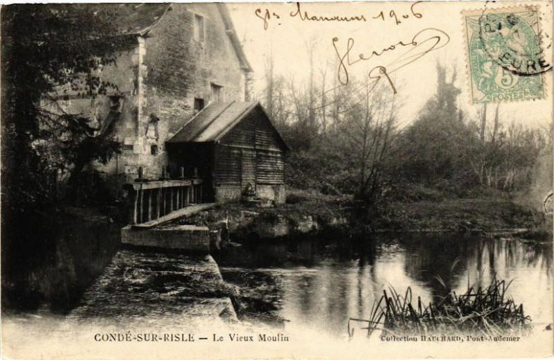 Carte postale ancienne Conde-sur-Risle - Le Vieux Moulin à Condé-sur-Risle