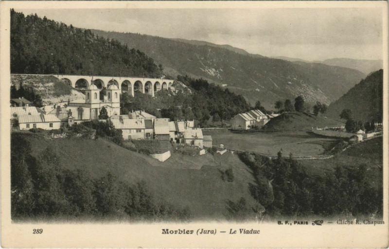 Carte postale ancienne Morbier - Le Viaduc à Morbier