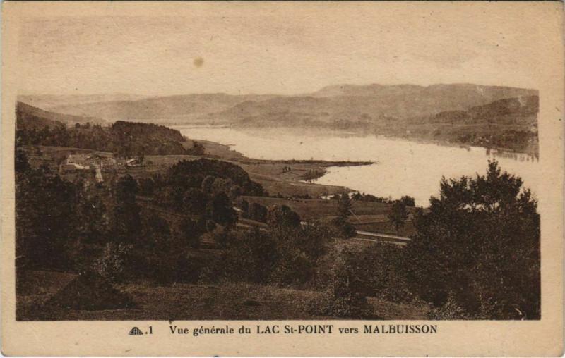 Carte postale ancienne Malbuisson - Lac Saint-Point à Malbuisson