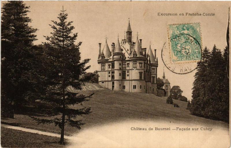 Carte postale ancienne Chateau de Bournel - Facade sur Cubry à Cubry