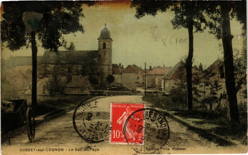 Carte postale ancienne Cussey sur l'Ognon - Le Bas du Pays à Cussey-sur-l'Ognon