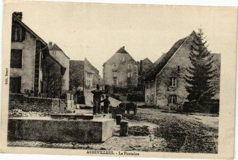 Carte postale ancienne Abrevillers - La Fontaine à Fontain