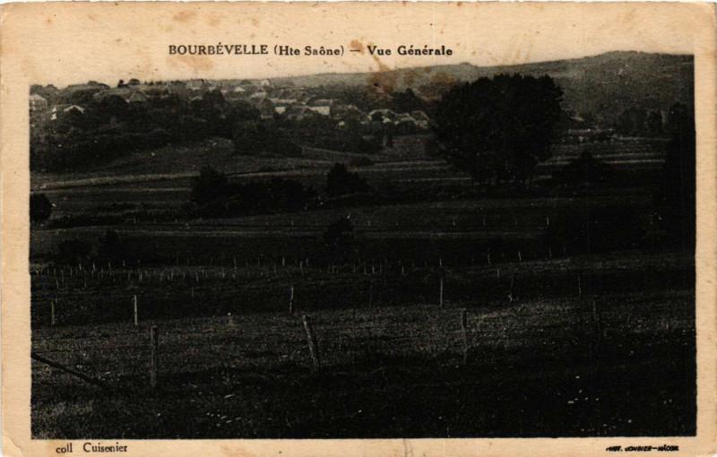 Carte postale ancienne Bourbevelle Vue générale à Bourbévelle