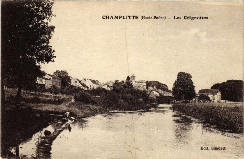 Carte postale ancienne Champlitte - Les Crignottes à Champlitte