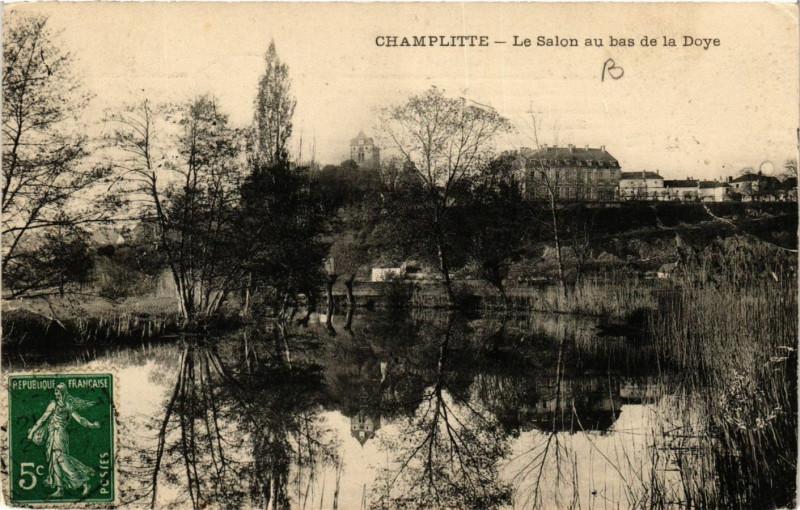 Carte postale ancienne Champlitte - Le Salon au bas de la Doye à Champlitte