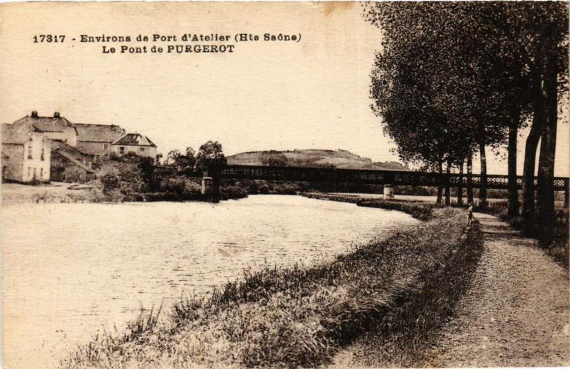 Carte postale ancienne Purgerot - Le Pont de Purgerot - Env. de Port-d'Atelier à Purgerot