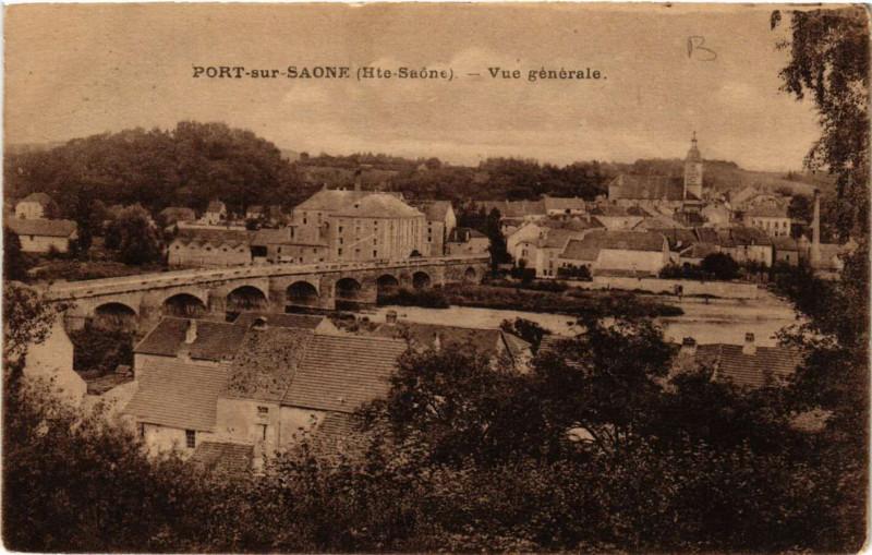 Carte postale ancienne Port-sur-Saone - Vue générale à Port-sur-Saône