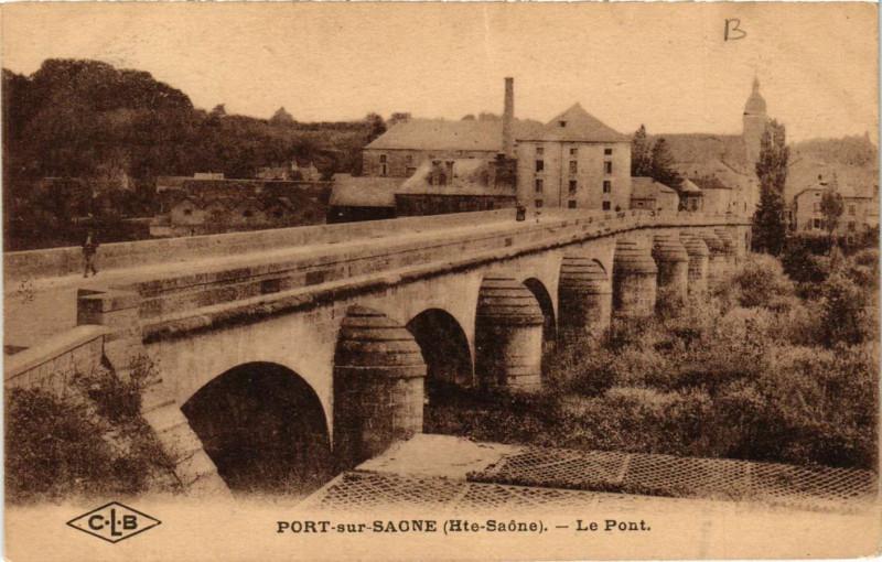 Carte postale ancienne Port-sur-Saone - Le Pont à Port-sur-Saône