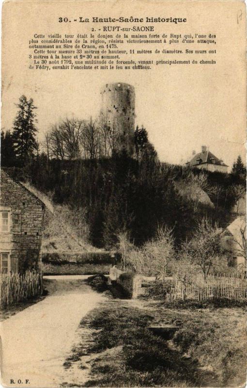 Carte postale ancienne Rupt-sur-Saone - Cette Vieille Tour à Rupt-sur-Saône