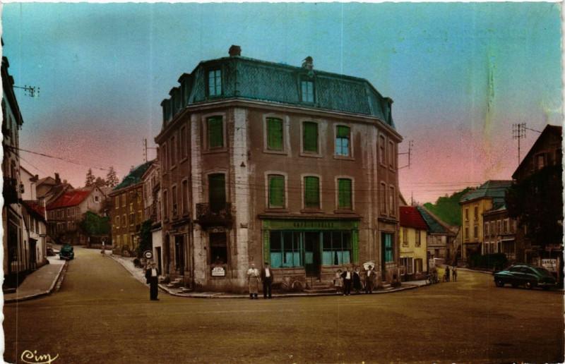 Carte postale ancienne Beaucourt (T.-de-B.) - Place de la République à Beaucourt