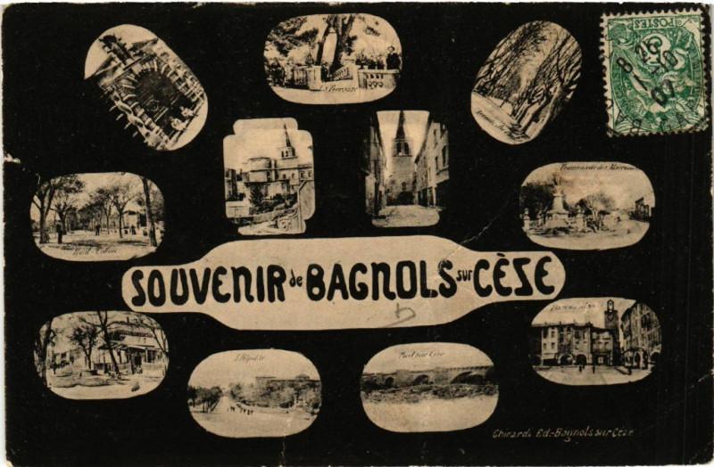 Carte postale ancienne Souvenir de Bagnols-sur-Ceze à Bagnols-sur-Cèze