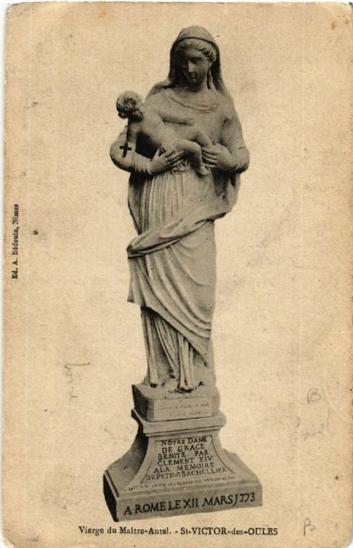 Carte postale ancienne Vierge du Maitre-Autel - Saint-Victor-des-Oules à Saint-Victor-des-Oules
