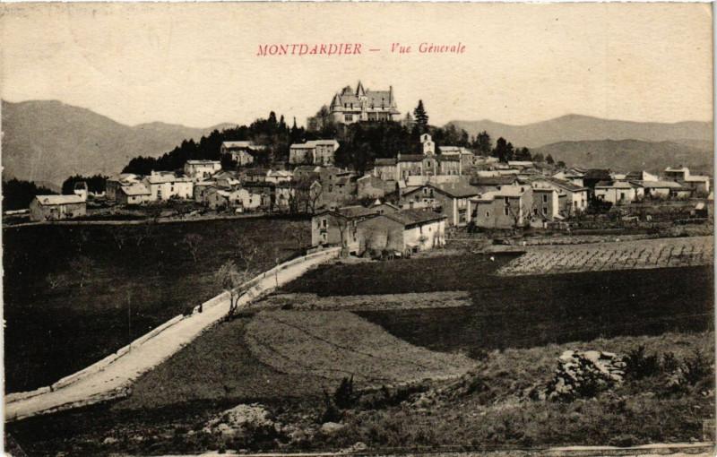 Carte postale ancienne Montdardier - Vue Générale à Montdardier