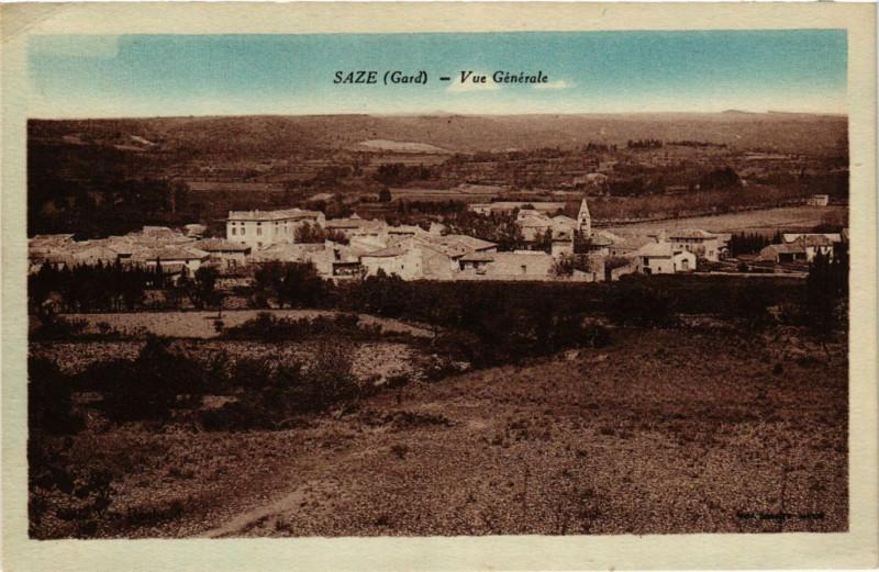 Carte postale ancienne Saze - Vue Générale à Saze