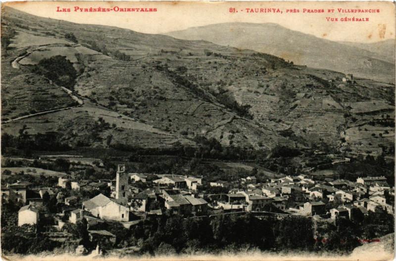 Carte postale ancienne Taurinya pres Prades et Villefranche - Vue générale à Taurinya