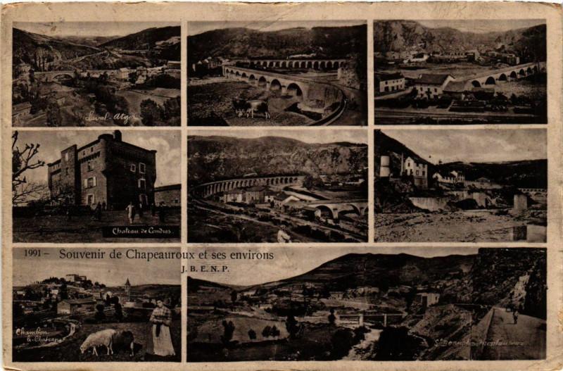 Carte postale ancienne Chapeauroux - Chapeauroux et ses Env. - Scenes à Auroux