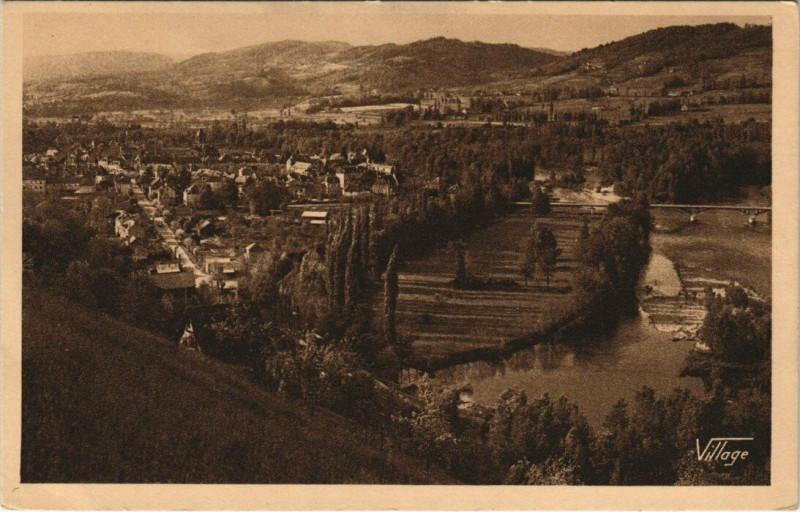 Carte postale ancienne Beaulieu-sur-Dordogne - Vue générale à Beaulieu-sur-Dordogne