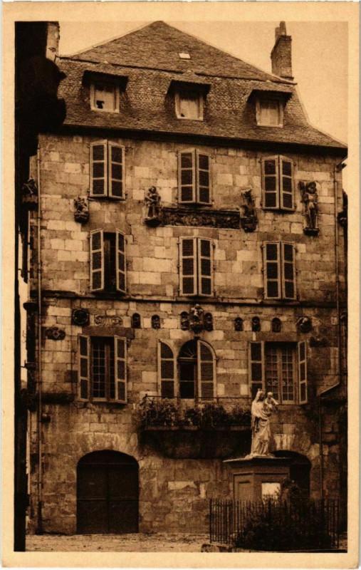 Carte postale ancienne Beaulieu-sur-Dordogne - Maison Renaissance à Beaulieu-sur-Dordogne