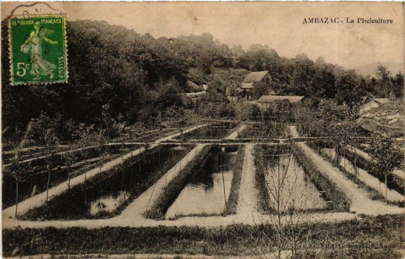 Carte postale ancienne Ambazac La Pisciculture à Ambazac