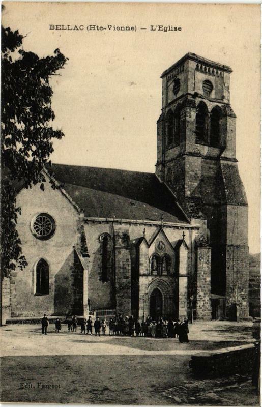 Carte postale ancienne Bellac Eglise à Bellac