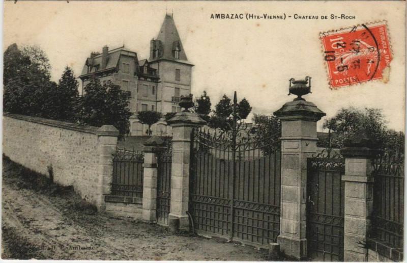 Carte postale ancienne Ambazac Chateau de-Saint-Roch à Ambazac