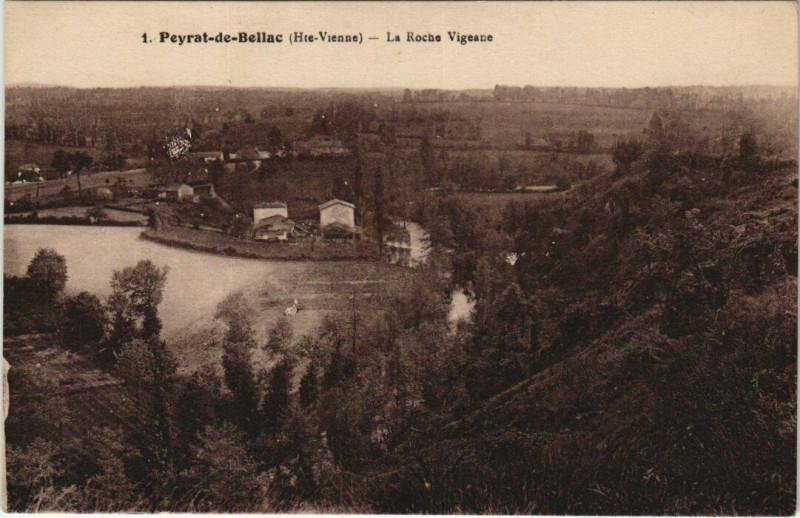 Carte postale ancienne Peyrat-de-Bellac - La Roche Vigeane à Peyrat-de-Bellac