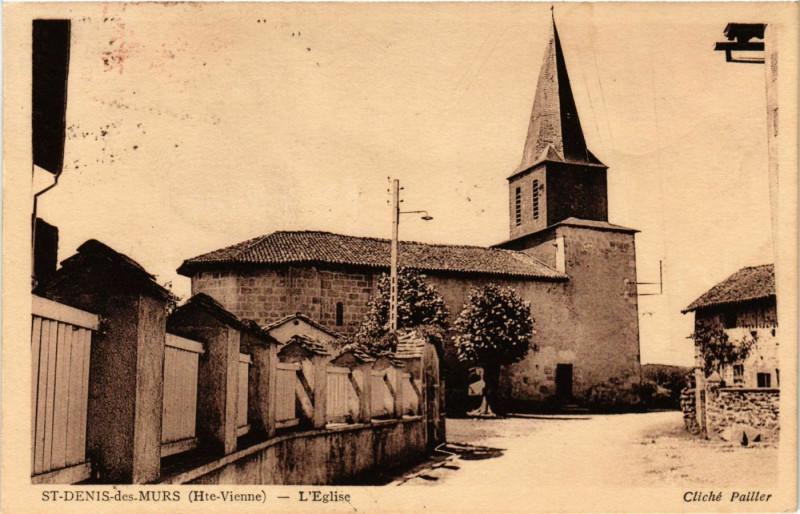 Carte postale ancienne Saint-Denis-des-Murs (Hte-Vienne) - L'Eglise à Saint-Denis-des-Murs