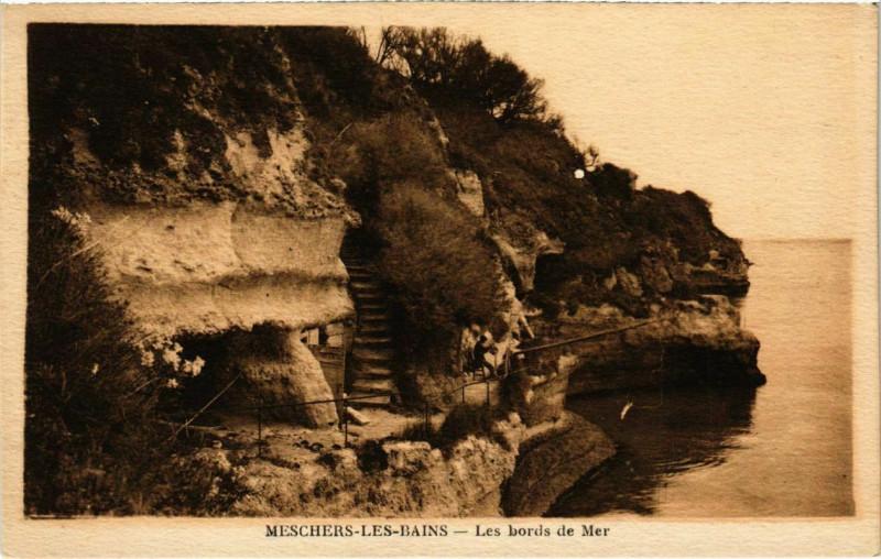 Carte postale ancienne Meschers-les-Bains - Les bords de Mer à Bords