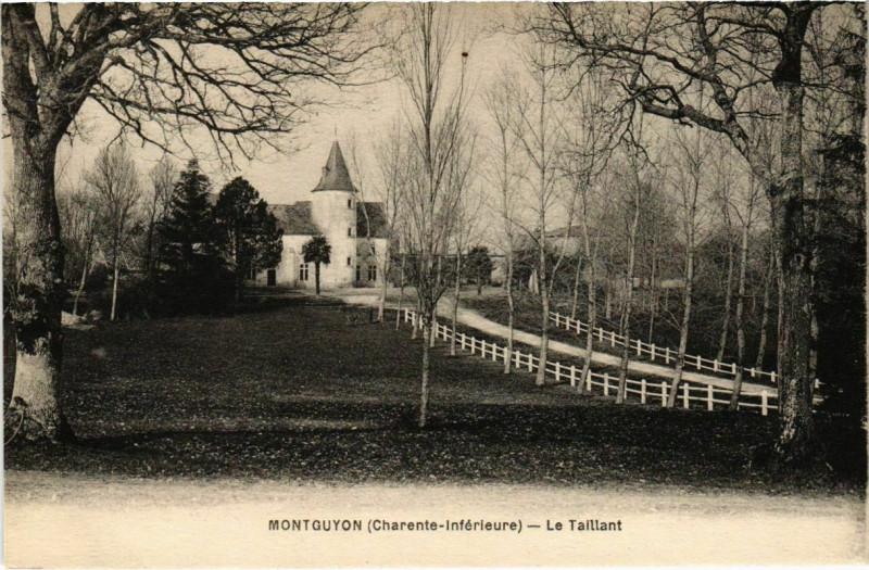 Carte postale ancienne Montguyon - Le Taillant à Montguyon
