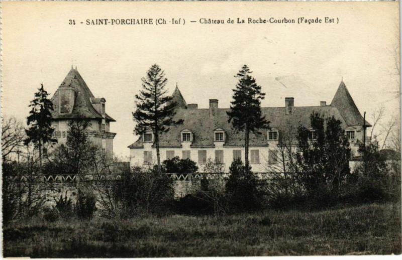 Carte postale ancienne Saint-Porchaire - Chateaau de la Roche Courbon à Saint-Porchaire