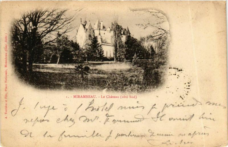 Carte postale ancienne Mirambeau Le Chateau cote Sud à Mirambeau