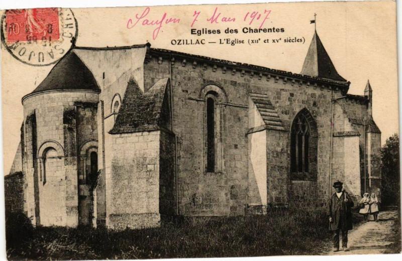 Carte postale ancienne Eglises des Charentes - Ozillac - L'Eglise (Xii et Xv siécles) à Ozillac