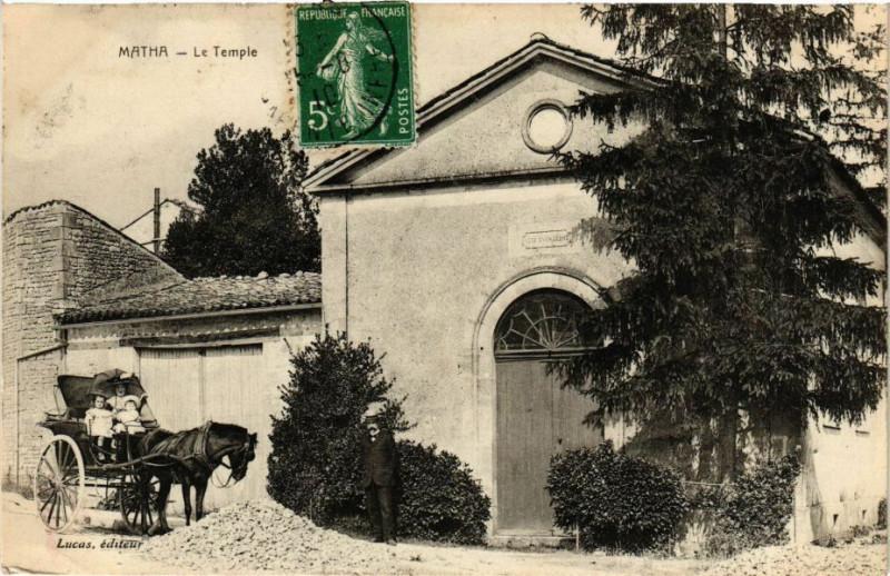 Carte postale ancienne Matha - Le Temple à Matha