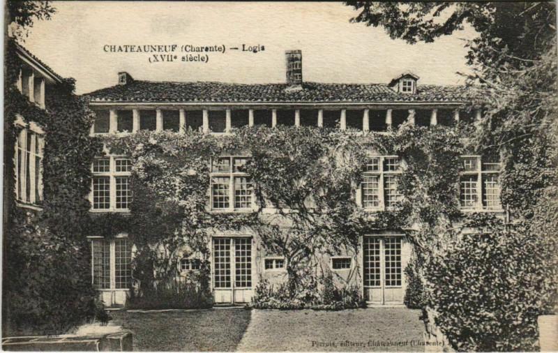Carte postale ancienne Chateauneuf-sur-Charente Logis France à Châteauneuf-sur-Charente