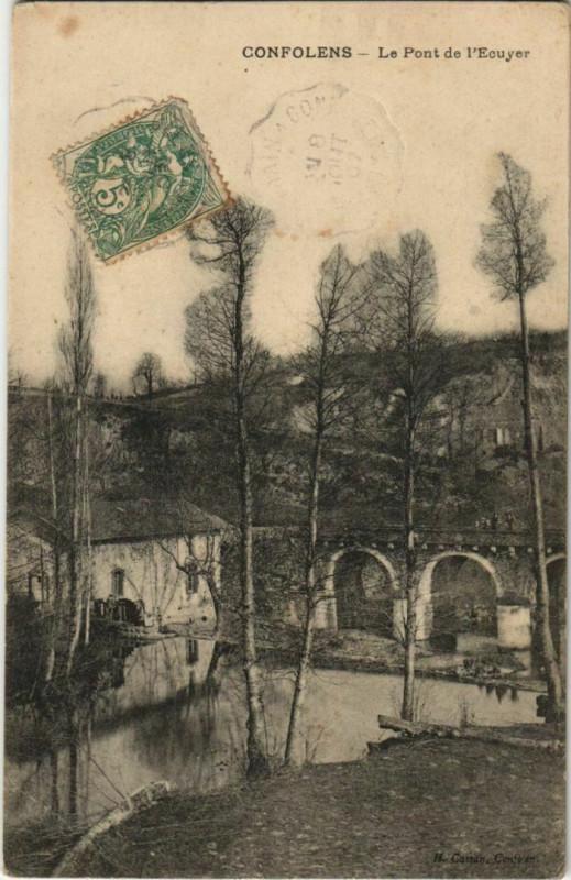 Carte postale ancienne Confolens Le Pont de l'Ecuyer France à Confolens